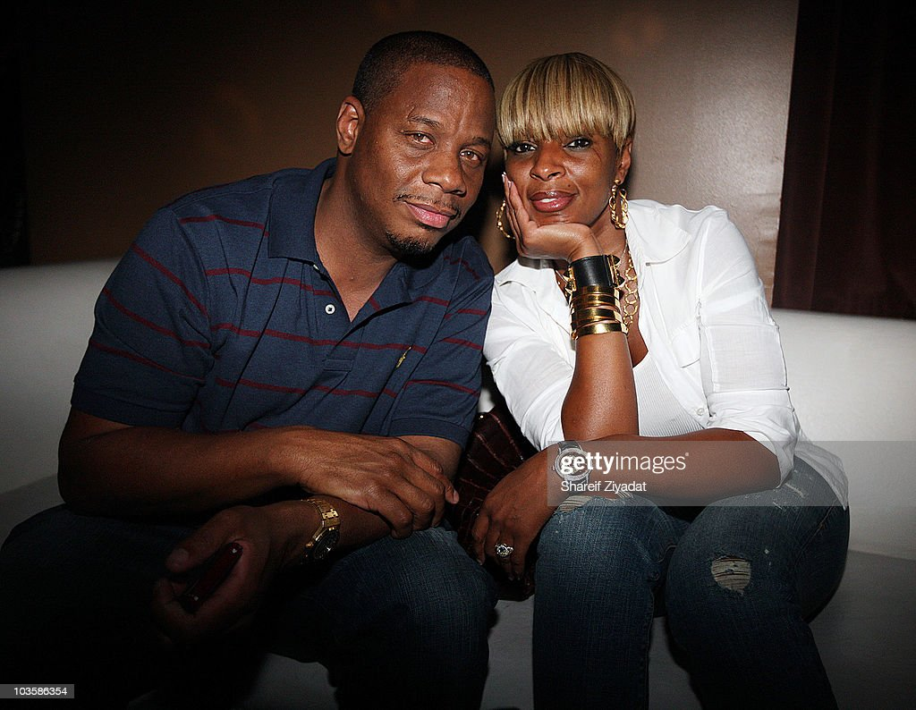 Kendu and <a gi-track='captionPersonalityLinkClicked' href=/galleries/search?phrase=Mary+J.+Blige&family=editorial&specificpeople=171124 ng-click='$event.stopPropagation()'>Mary J. Blige</a> attend the YRB Magazine Art Issue Release Party at Lucky Strike on August 23, 2010 in New York City.