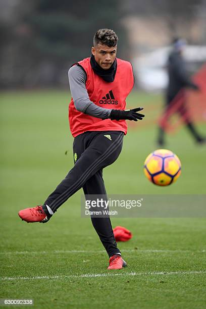 Kenedy of Chelsea during a training session at Chelsea Training Ground on December 16 2016 in Cobham England