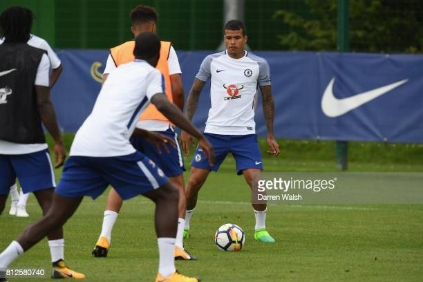 Kenedy of Chelsea during a training session at Chelsea Training Ground on July 11 2017 in Cobham England