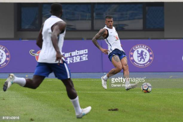 Kenedy of Chelsea during a training session at the AOTI Stadium on July 20 2017 in Beijing China