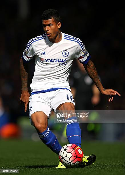 Kenedy of Chelsea during the Barclays Premier League match between Everton and Chelsea at Goodison Park on September 12 2015 in Liverpool United...