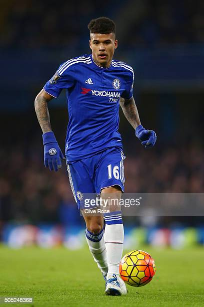 Kenedy of Chelsea in action during the Barclays Premier League match between Chelsea and Everton at Stamford Bridge on January 16 2016 in London...