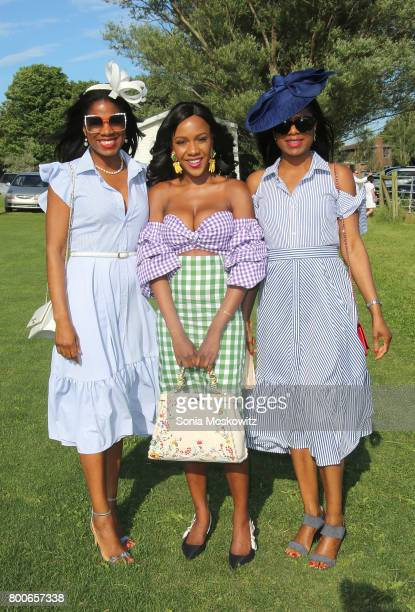 Keneea LintonGeorge Sherece Bennett and Kenisha Linton attend the First Annual Polo Hamptons Match at Southampton Polo Club on June 24 2017 in New...