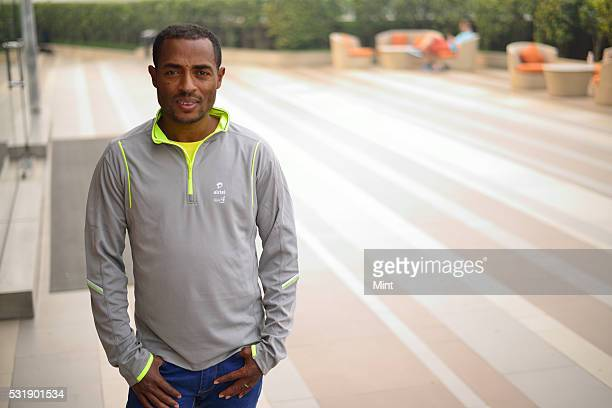 Kenenisa Bekele Marathon World Record Holder poses during an exclusive interview on November 27 2015 in New Delhi India