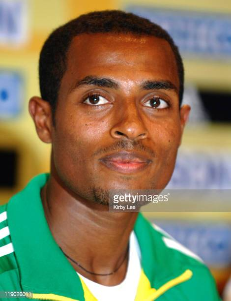 Kenenisa Bekele of Ethiopia at 35th IAAF World Cross Country Championships press conference at the Whitesands Hotel in Mombasa Kenya on Friday March...