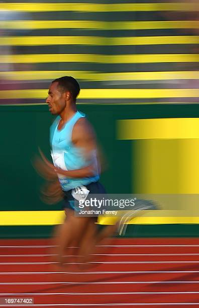 Kenenisa Bekele of Kenya runs the Men's 10000m during day 1 of the IAAF Diamond League Prefontaine Classic on May 31 2013 at the Hayward Field in...