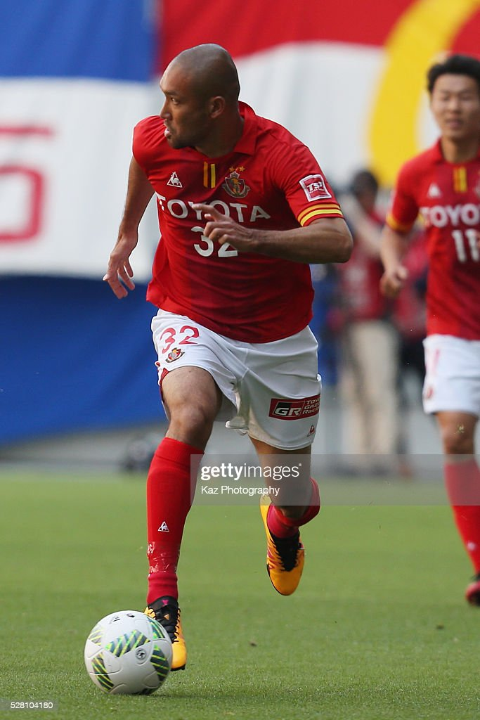 <a gi-track='captionPersonalityLinkClicked' href=/galleries/search?phrase=Kengo+Kawamata&family=editorial&specificpeople=8535845 ng-click='$event.stopPropagation()'>Kengo Kawamata</a> of Nagoya Grampus in action during the J.League match between Nagoya Grampus and Yokohama F.Marinos at the Toyota Stadium on May 4, 2016 in Toyota, Aichi, Japan.