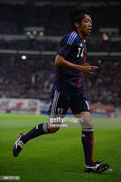 Kengo Nakamura of Japan in action during the international friendly match between Japan and Bulgaria at Toyota Stadium on May 30 2013 in Toyota Aichi...