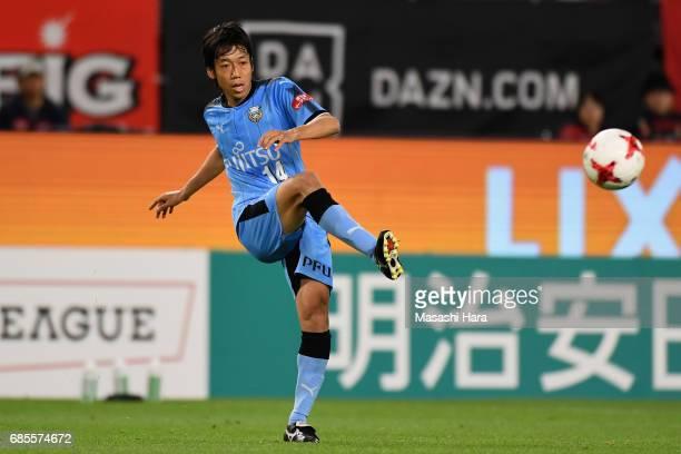 Kengo Nakamura of Kawasaki Frontale in action during the JLeague J1 match between Kashima Antlers and Kawasaki Frontale at Kashima Soccer Stadium on...