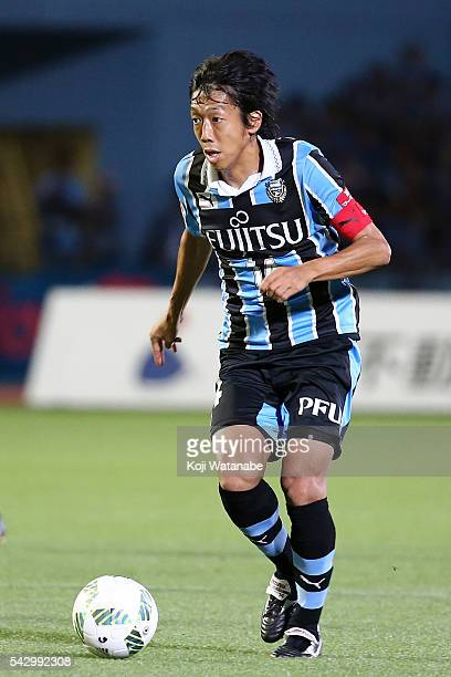 Kengo Nakamura of Kawasaki Frontale in action during the JLeague match between Kawasaki Frontale and Omiya Ardija at the Kawasaki Todoroki Stadium on...