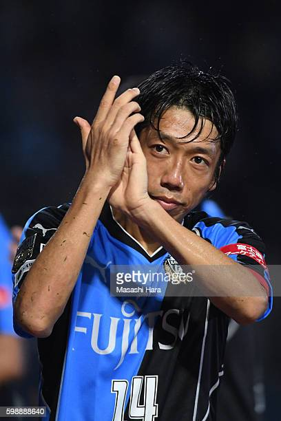 Kengo Nakamura of Kawasaki Frontale looks on after the 96th Emperor's Cup first round match between Kawasaki Frontale and Blaublitz Akita at Todoroki...