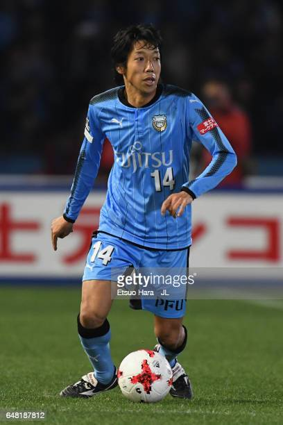 Kengo Nakamura of Kawasaki Frontiale in action during the JLeague J1 match between Kawasaki Frontale and Sagan Tosu at Todoroki Stadium on March 5...