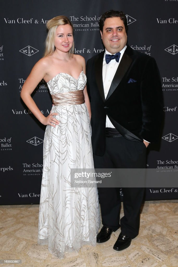 Keniya Barkova (L) and Todd Plutsky attend the after party for the School of American Ballet 2013 Winter Ball at David H. Koch Theater, Lincoln Center on March 11, 2013 in New York City.