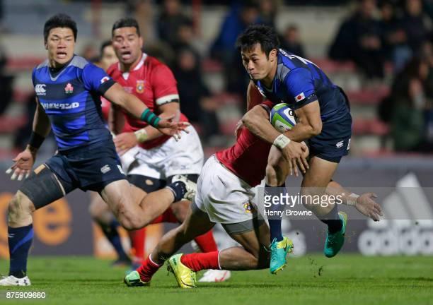 Kenki Fukuoka of Japan during the international match between Japan and Tonga at Stade Ernest Wallon on November 18 2017 in Toulouse Kanagawa France