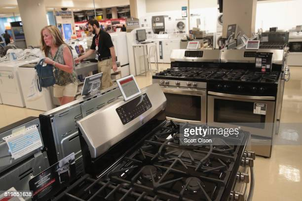 Kenmore appliances are offered for sale at a Sears retail store on July 20 2017 in Schaumburg Illinois Sears announced today that it had agreed to...