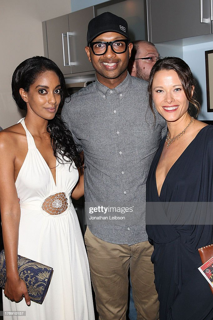 Kenna and Scottie Thompson attend the Microsoft & Friends To Mankind Present: 18for18 Benefiting The Somaly Mam Foundation At The Microsoft Experience - Venice Beach on August 18, 2013 in Venice, California.