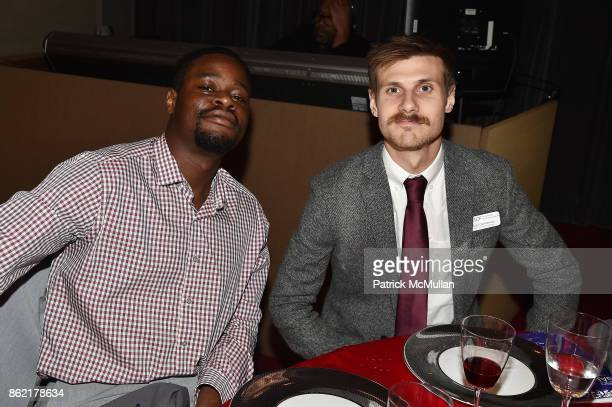 Kennedy Agwamba and Dr Sean DesMarteau attend the NYSCF Gala Science Fair at Jazz at Lincoln Center on October 16 2017 in New York City