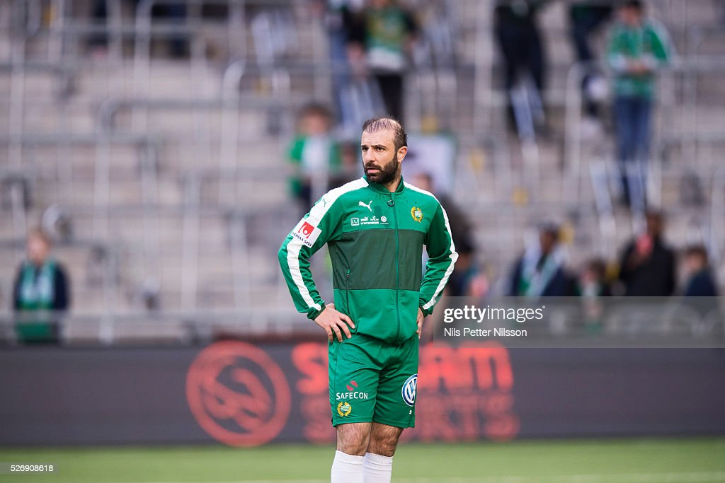 Kennedy Bakircioglu of Hammarby IF during the Allsvenskan match between Hammarby IF and GIF Sundsvall at Tele2 Arena on May 1, 2016 in Stockholm, Sweden.