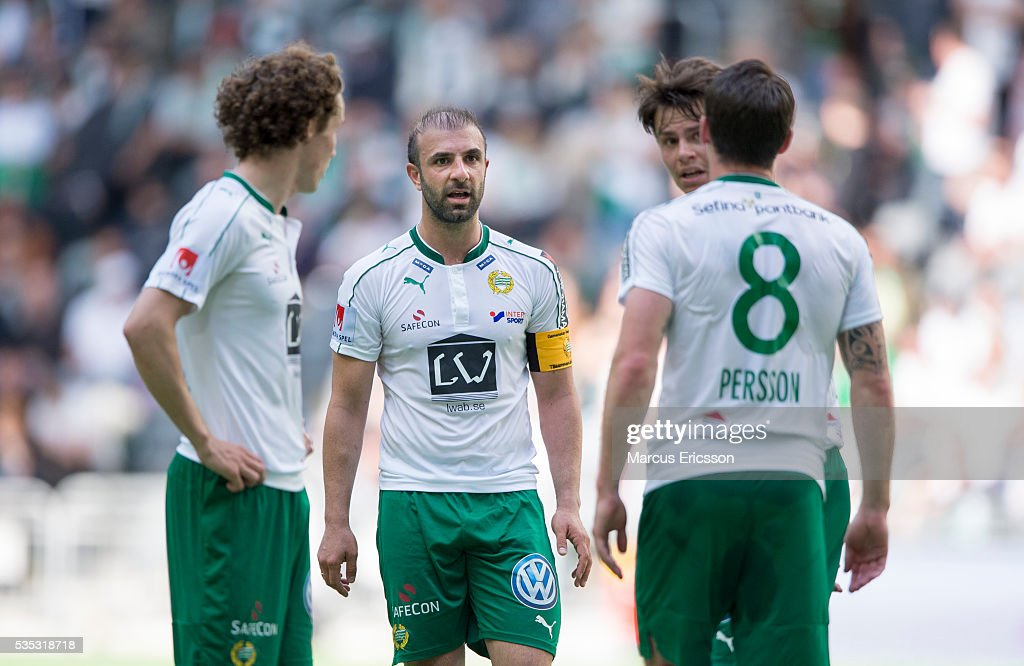 Kennedy Bakircioglu of Hammarby IF during the Allsvenskan match between Hammarby IF and Gefle IF at Tele2 Arena on May 29, 2016 in Stockholm, Sweden.