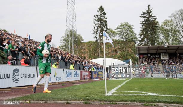 Kennedy Bakircioglu of Hammarby IF during the Allsvenskan match between IK Sirius FK and Hammarby IF at Studenternas IP on May 21 2017 in Uppsala...