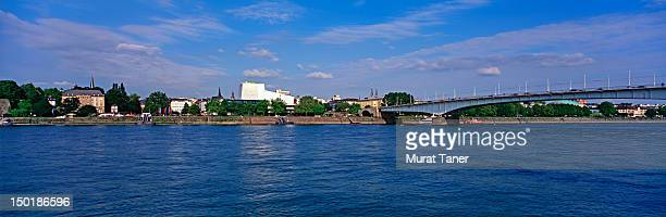 Kennedy Bridge and Bonn skyline, Germany