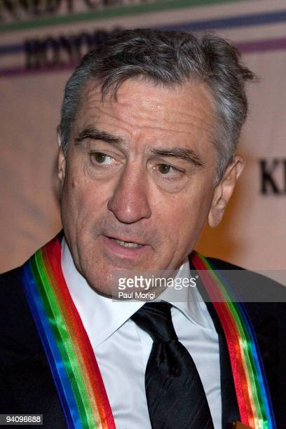 Kennedy Center honoree actor Robert De Niro arrives at the 32nd Kennedy Center Honors at Kennedy Center Hall of States on December 6 2009 in...