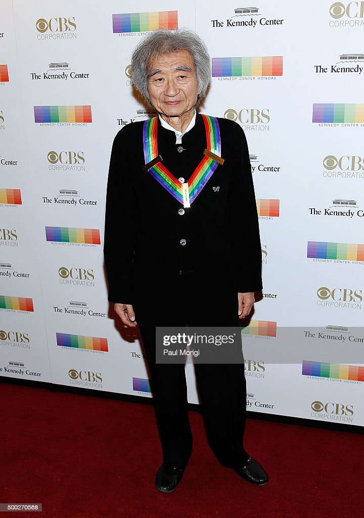 Kennedy Center honoree conductor Seiji Ozawa attends the 38th Annual Kennedy Center Honors Gala at John F. Kennedy Center for the Performing Arts on December 6, 2015 in Washington, DC.