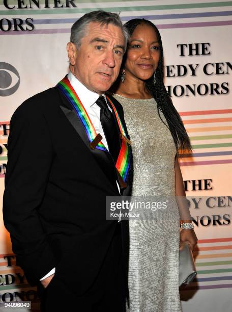 Kennedy Center Honoree Robert De Niro and wife Grace Hightower attend the 32nd Kennedy Center Honors at Kennedy Center Hall of States on December 6...