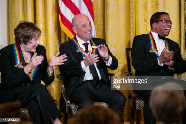 Kennedy Center Honorees Shirley MacLaine Billy Joel and Herbie Hancock attend a reception at the White House for the 2013 Kennedy Center Honorees on...