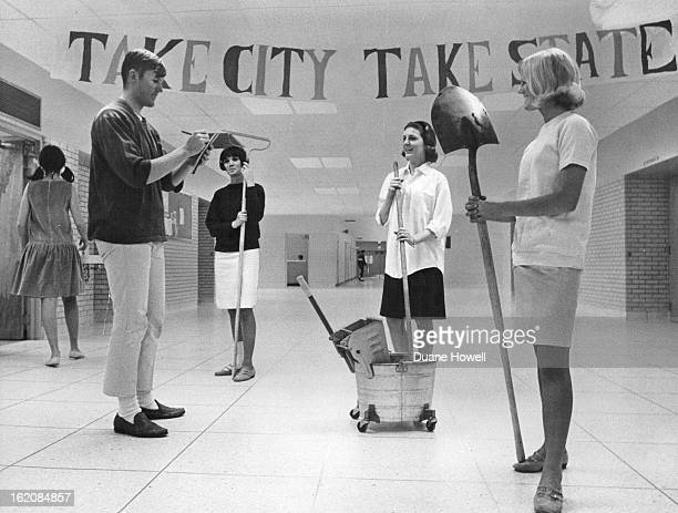APR 20 1967 APR 26 1967 Kennedy High Students Seek Funds Joe Kelsic left 2832 S Knoxville Way reads from a pad he hopes will be full of work...