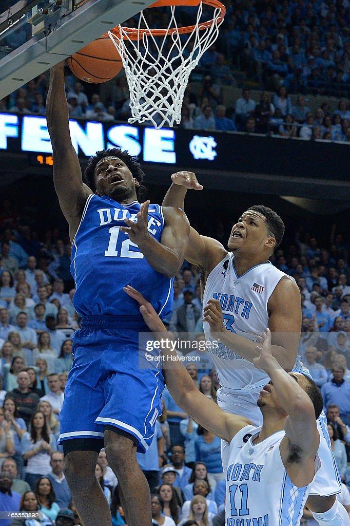 Duke North Carolina Photos Images Getty Basketball March 7 2015