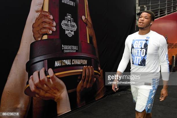 Kennedy Meeks of the North Carolina Tar Heels walks to the court prior to the 2017 NCAA Men's Final Four National Championship game against the...
