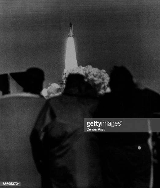Kennedy Space Center Fla Jan 28 The Space Shuttle lifts form Pad 39B in front of Colorado students and teachers Space Shuttle Challenger Credit The...