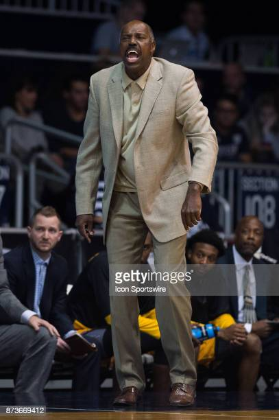 Kennesaw State Owls head coach Al Skinner on the sidelines during the men's college basketball game between the Butler Bulldogs and Kennesaw State...