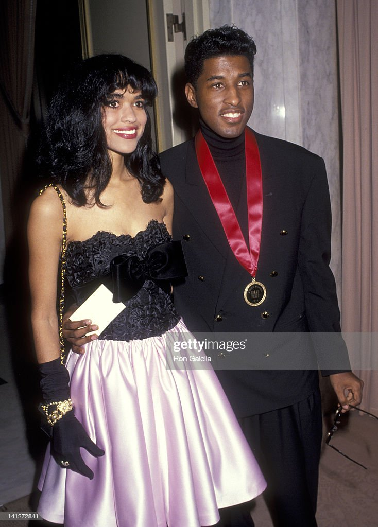 Kenneth 'Babyface' Edmonds and Tracey Edmonds at the 1991 BMI Awards Beverly Wilshire Hotel Beverly Hills