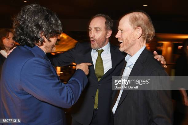 Kenneth Biller Michael McElhatton and Ron Howard attend the London Premiere after party for the National Geographic Channel's 'Genius' at Quaglino's...