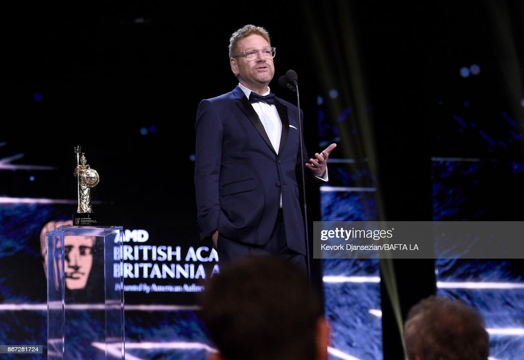 Kenneth Branagh accepts Albert R. Broccoli Britannia Award for Worldwide Contribution to Entertainment at the 2017 AMD British Academy Britannia Awards Presented by American Airlines And Jaguar Land Rover at The Beverly Hilton Hotel on October 27, 2017 in Beverly Hills, California.