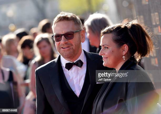 Kenneth Branagh and Lindsay Brunnock attend The Olivier Awards 2017 at Royal Albert Hall on April 9 2017 in London England