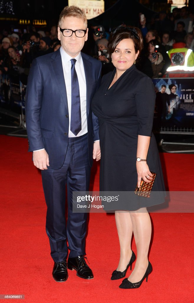<a gi-track='captionPersonalityLinkClicked' href=/galleries/search?phrase=Kenneth+Branagh&family=editorial&specificpeople=213618 ng-click='$event.stopPropagation()'>Kenneth Branagh</a> and Lindsay Brunnock attend the UK premiere of 'Jack Ryan: Shadow Recruit' on January 20, 2014 in London, England.