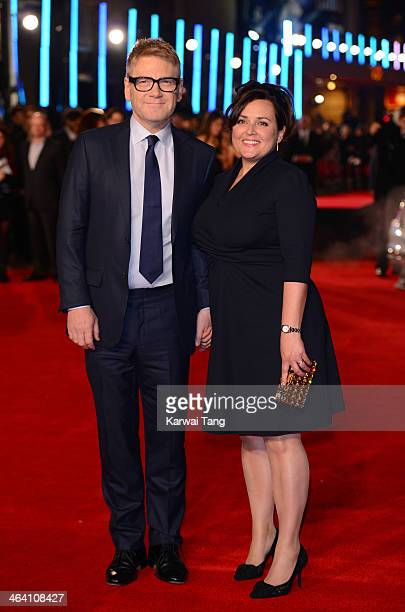 Kenneth Branagh and Lindsay Brunnock attend the UK Premiere of 'Jack Ryan Shadow Recruit' at the Vue Leicester Square on January 20 2014 in London...