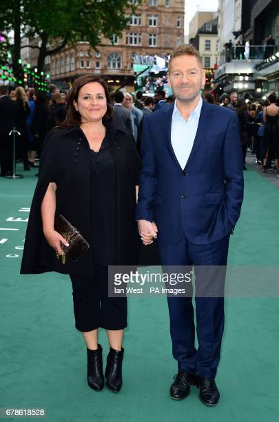 Kenneth Branagh and wife Lindsay Brunnock arriving for the Alien Covenant Premiere held at the Odeon Leicester Square London