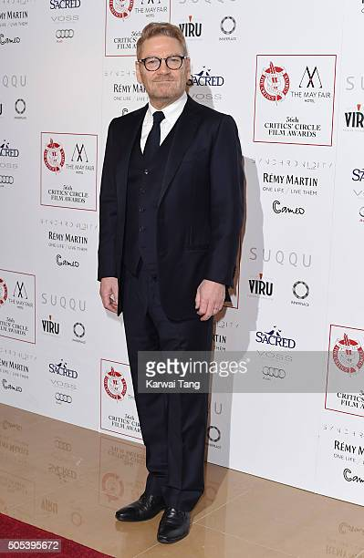Kenneth Branagh attends The London Critics' Circle Film Awards at The Mayfair Hotel on January 17 2016 in London England