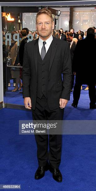 Kenneth Branagh attends the UK Premiere of 'Cinderella' at Odeon Leicester Square on March 19 2015 in London England