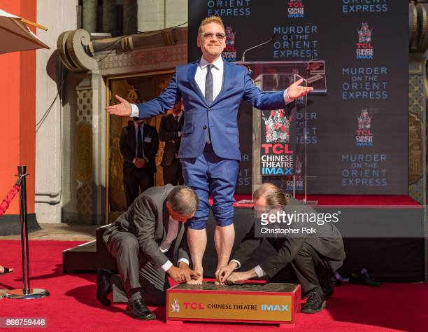 Kenneth Branagh during the Hand And Footprint Ceremony at TCL Chinese Theatre on October 26 2017 in Hollywood California