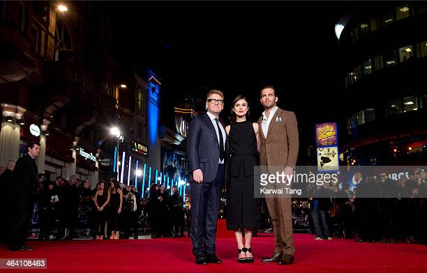 Kenneth Branagh Keira Knightley and Chris Pine attend the UK Premiere of 'Jack Ryan Shadow Recruit' at the Vue Leicester Square on January 20 2014 in...