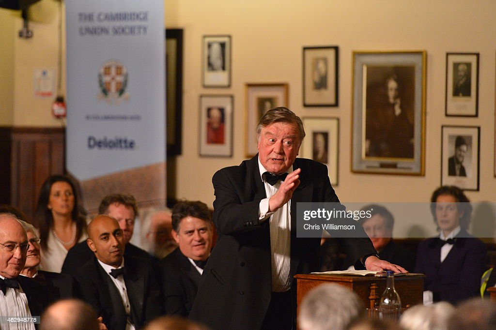 Kenneth Clarke debating ''This house is not what it used to be'' during the bicentenary debate at The Cambridge Union on February 7 2015 in Cambridge...