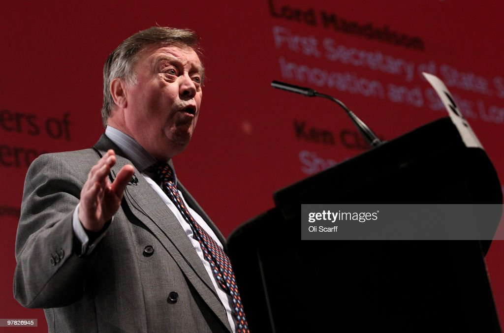 <a gi-track='captionPersonalityLinkClicked' href=/galleries/search?phrase=Kenneth+Clarke&family=editorial&specificpeople=766951 ng-click='$event.stopPropagation()'>Kenneth Clarke</a> MP, the Shadow Business Secretary, speaks at the British Chamber of Commerce Annual Conference held at the headquarters of BAFTA on March 18, 2010 in London, England. The annual conference entitled 'Preparing for Change - Setting the Business Agenda' will hear from keynote speakers from business, politics academia and the media including: Lord Mandelson, <a gi-track='captionPersonalityLinkClicked' href=/galleries/search?phrase=Kenneth+Clarke&family=editorial&specificpeople=766951 ng-click='$event.stopPropagation()'>Kenneth Clarke</a>, Lord Adonis, Baron Sugar, Trevor Phillips, Stephen Hester and Christine Lagarde. The British Chamber of Commerce is a network of 56 accredited Chambers of Commerce across the UK serving over 100,000 businesses, it is celebrating its 150th anniversary throughout 2010.