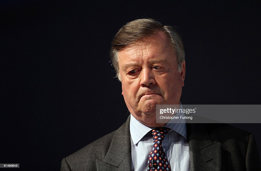 Kenneth Clarke Shadow Secretary of State for Business takes part in a business debate with delegates on the second day of the Conservative Party...