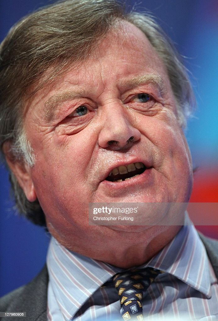 <a gi-track='captionPersonalityLinkClicked' href=/galleries/search?phrase=Kenneth+Clarke&family=editorial&specificpeople=766951 ng-click='$event.stopPropagation()'>Kenneth Clarke</a>, The Lord Chancellor and Secretary of State for Justice addresses delegates during the Conservative Party Conference at Manchester Central on October 4, 2011 in Manchester, England. Later Theresa May, Secretary of State for the Home Department and Minister for Women and Equalities, will announce plans to clamp down on illegal immigrants and foreign criminals hiding behind the human rights act to avoid be deported.