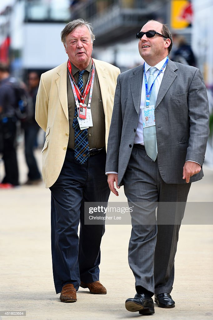 Kenneth Clarke walks through the paddock before the British Formula One Grand Prix at Silverstone Circuit on July 6 2014 in Northampton United Kingdom